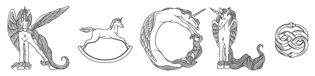 Image of Pegacorn Initials font overview