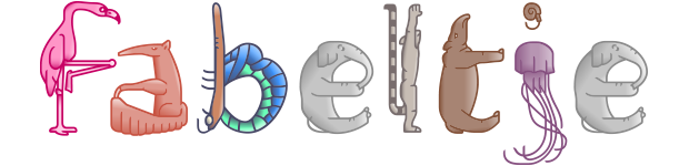 Fabel, the animal alphabet font overview