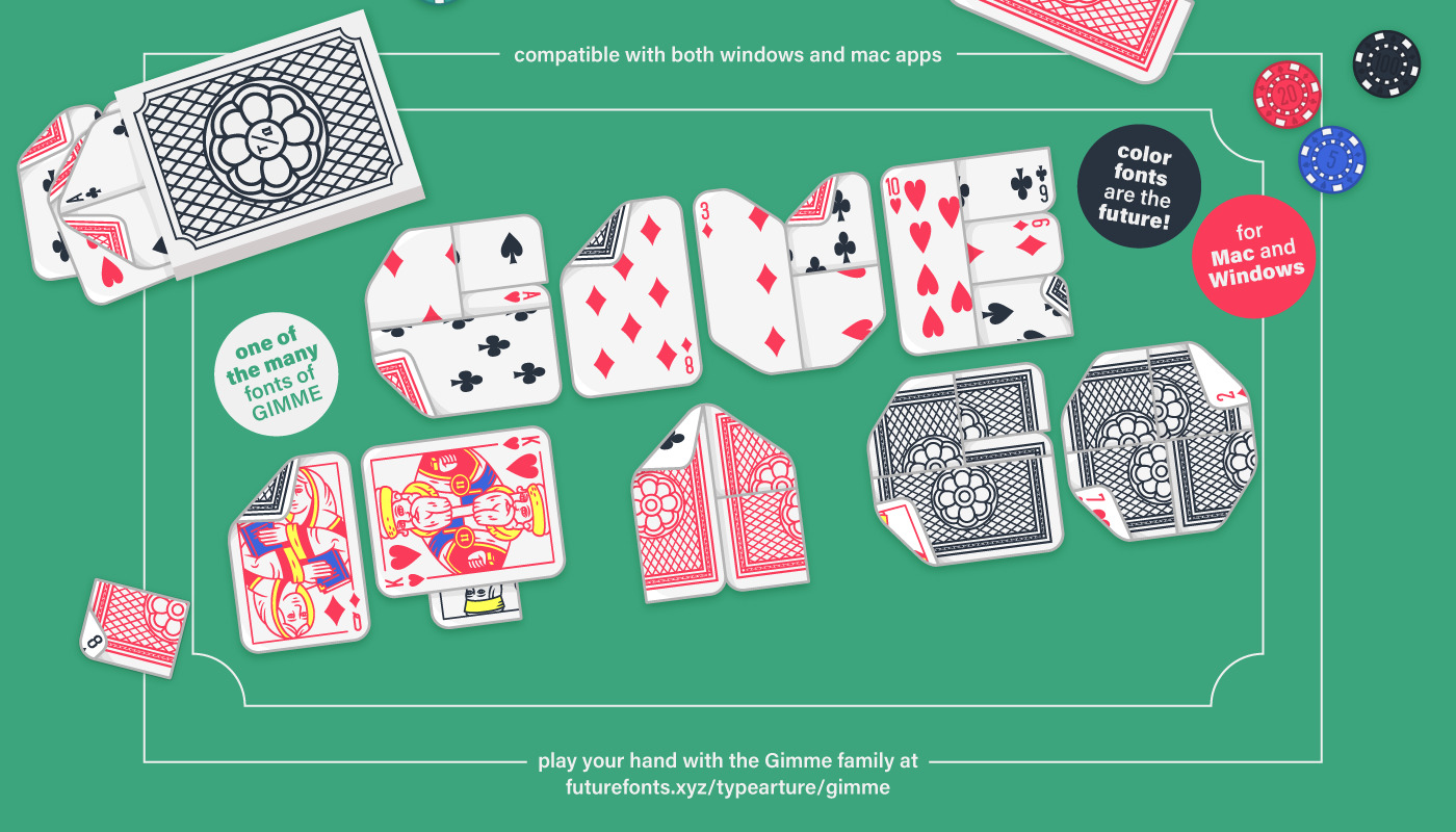 Give Lowball, the playing card font, a go