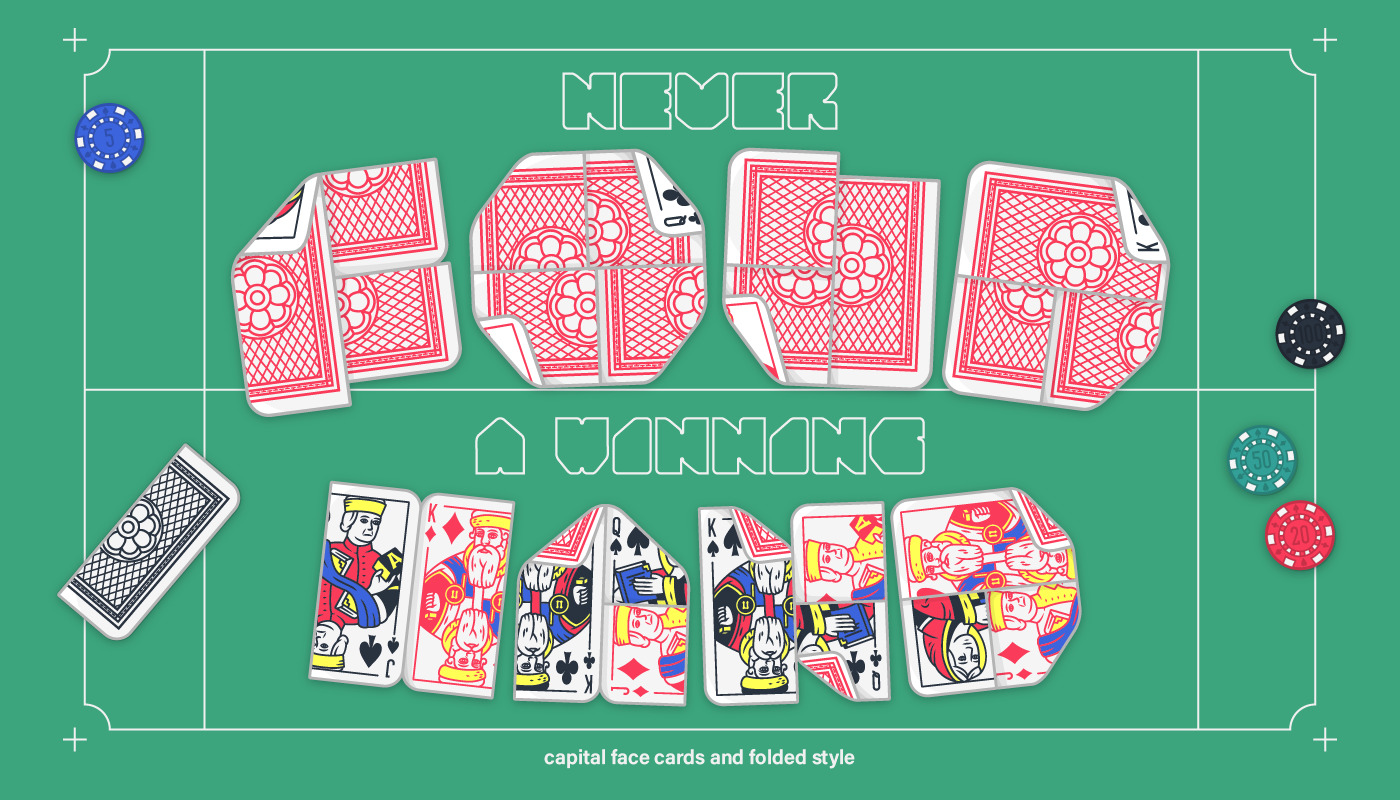 Lowball face cards and folded styles