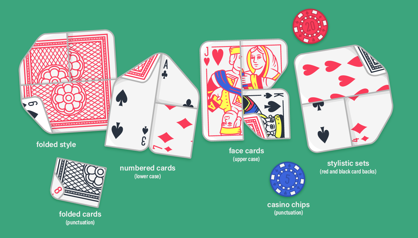 The styles of Lowball, the playing card font